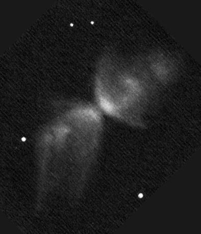 NGC 6302 rajz (40cm-es Newton távcsővel).