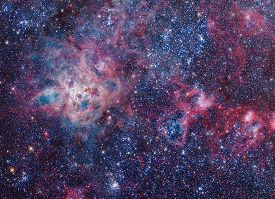 NGC 2070 Éder Iván 20 cm-es asztrográffal készült fotóján.