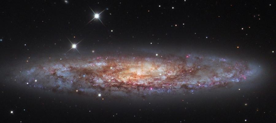 NGC 253 photo by László Francsics using a 51cm DK telescope.