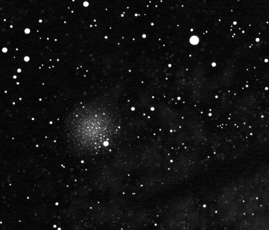 "NGC 4372 drawing using a 4"" Newtonian."