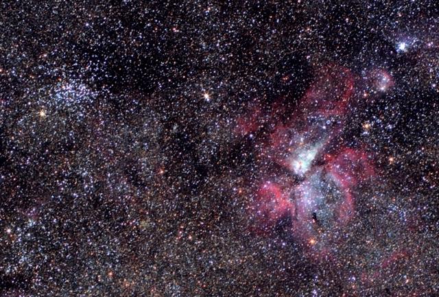 Eta Carinae Nebula (NGC 3372) - NGC 3532 photo. Canon EF 85mm f/1.8, Canon EOS 450D.