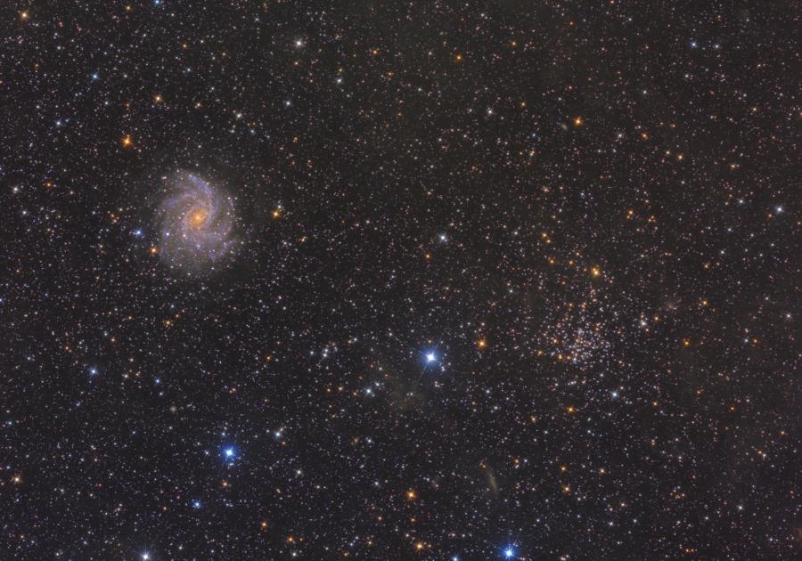 NGC 6939-6946 photo by Iván Éder using a 30 cm astrograph.