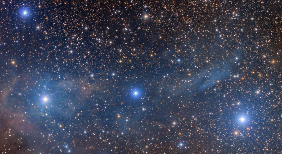 VdB 14-15, photograph taken by Bob Franke using a Takahashi FSQ-106ED telescope.