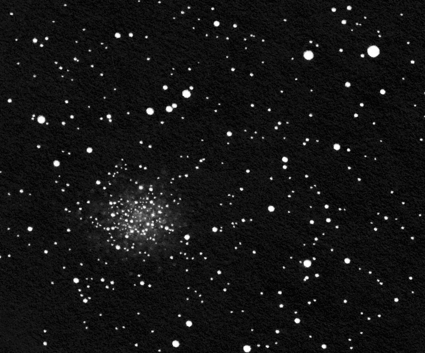 NGC 7789 drawing inverted into positive.
