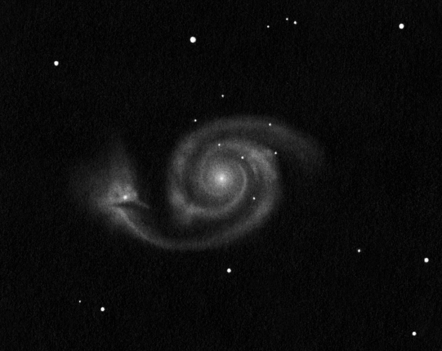 M 51 drawing inverted into positive.