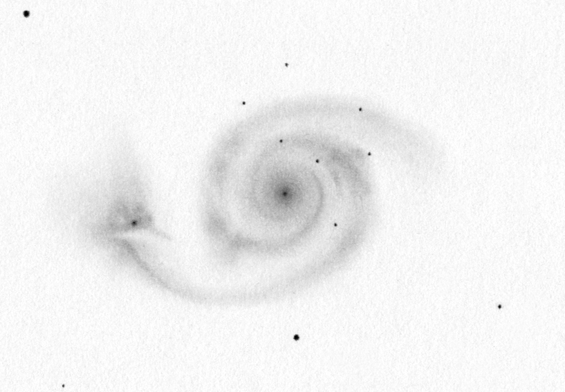 M 51 drawing from 2014 (Ágasvár) using a 16
