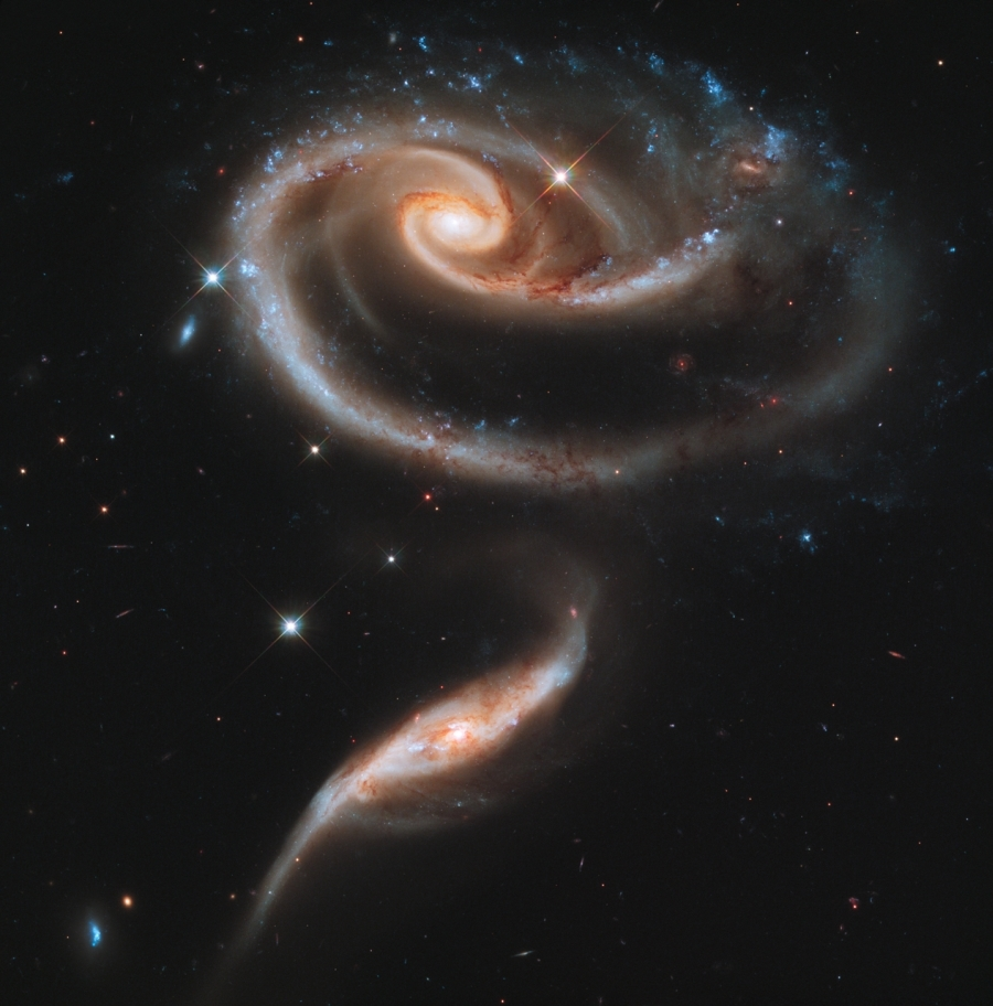 Hubble Space Telescope (HST) image of Arp 273.