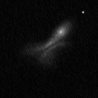 "NGC 520 drawing using a 16"" Newtonian telescope."