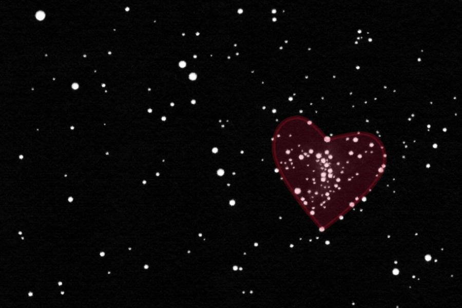 The heart shaped star chain around M 48.