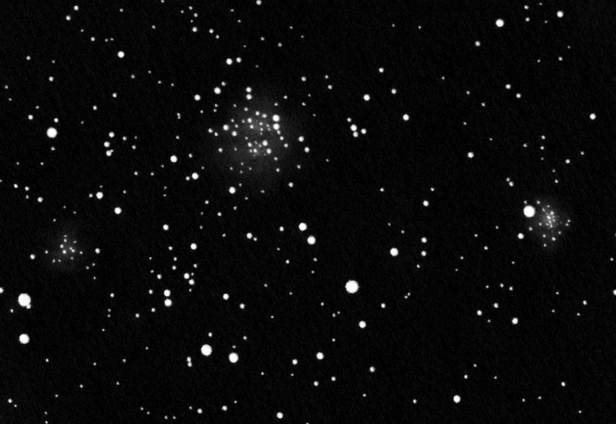 NGC 663, pozitívba fordított rajz.