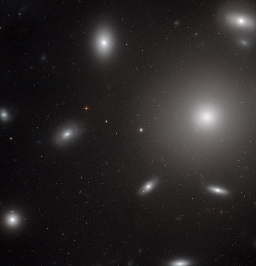 NGC 4874 a Hubble Űrtávcső (HST) felvételén.