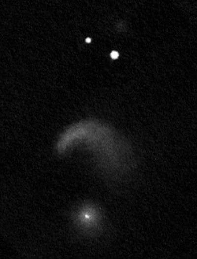 NGC 2936-37 (Arp 142) rajz 40.5 cm-es Newton távcsővel.