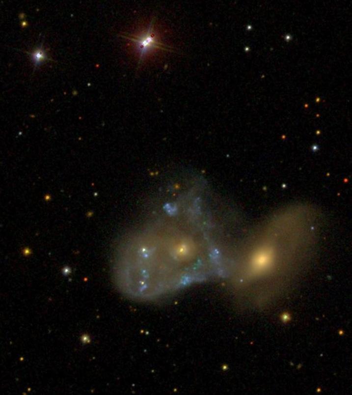 NGC 2444-45 photograph by SDSS (Sloan Digital Sky Survey).
