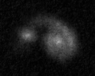 NGC 5278-79 (Arp 239) rajz 40.5 cm-es Newton távcsővel.