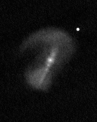 "NGC 6217 (Arp 185) drawing using a 16"" Newtonian telescope."