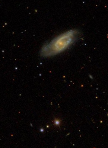 NGC 7393 az SDSS (Sloan Digital Sky Survey) fényképén.