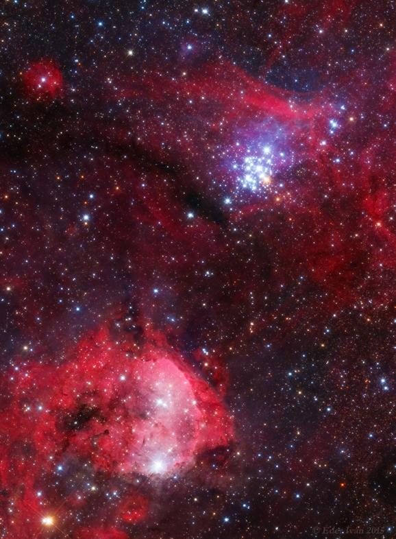 NGC 3293-3324 Éder Iván 20 cm-es asztrográffal készült fotóján.