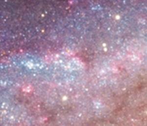 Az IC 139-140 tejútfoltok az M 33-ban Éder Iván 30 cm-es asztrogáffal készített felvételén.