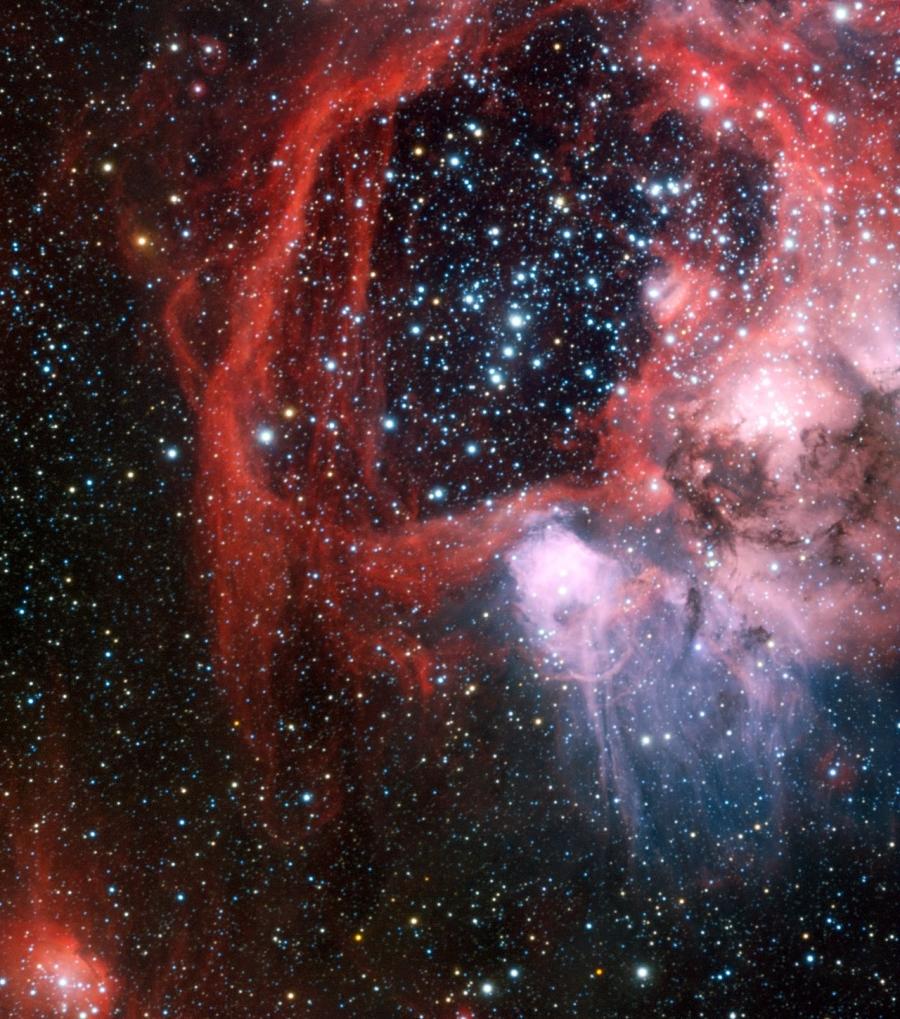 Az NGC 1929 környezete az ESO VLT távcsövével készült felvételen.