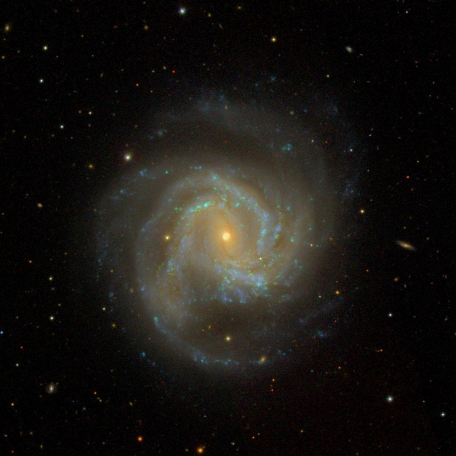 SDSS (Sloan Digital Sky Survey) image of M 61 made with the 2.5m telescope.