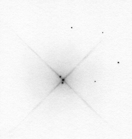 Iota Cassiopeiae drawing - the original negative drawing (black graphite on white paper).