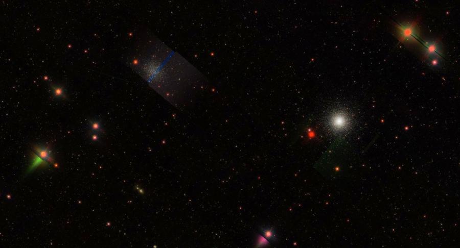 Az M 53 és az NGC 5053 az SDSS (Sloan Digital Sky Survey) 2.5m-es távcsövével készült felvételén.