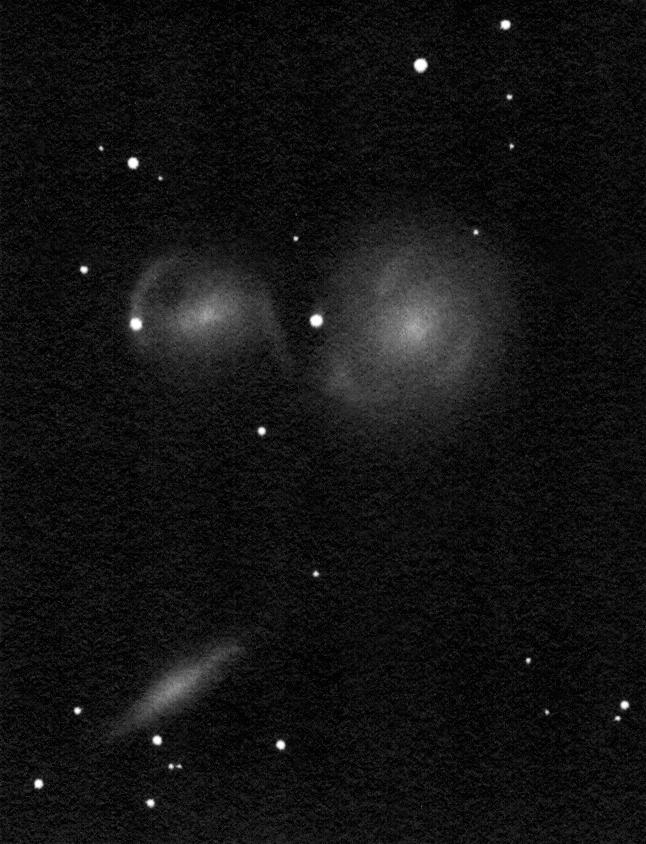 NGC 6769-70-71, pozitívba fordított rajz.