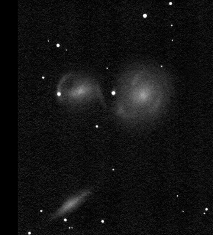 "NGC 6769-70-71 drawing made using a 16"" Newtonian telescope."