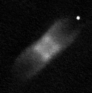 """Drawing of IC 4406 made using a 16"""" telescope."""