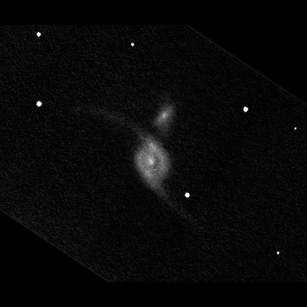 NGC 6872. 40 cm-es távcsővel készített rajz.