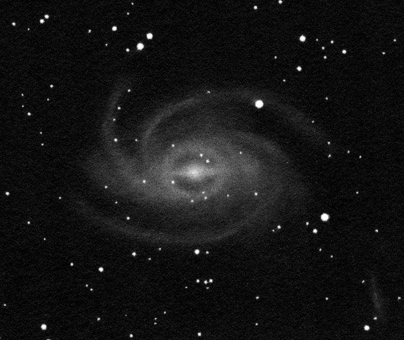 40 cm-es távcsővel készült rajz az NGC 6744-ről.