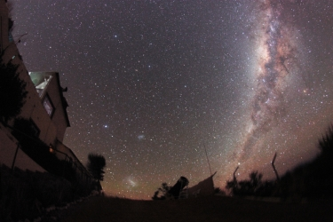 Milky Way and Magellanic Clouds from Hakos