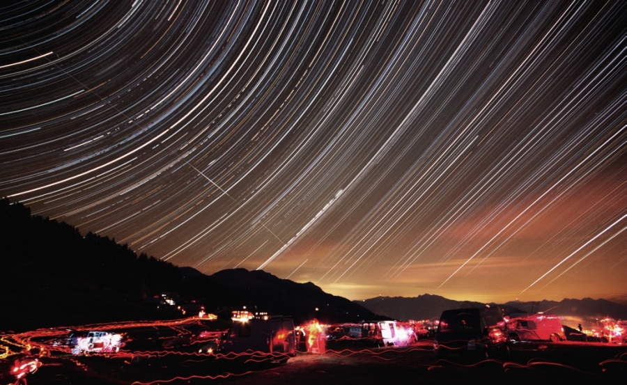 Alpine startrails from Emberger Alm